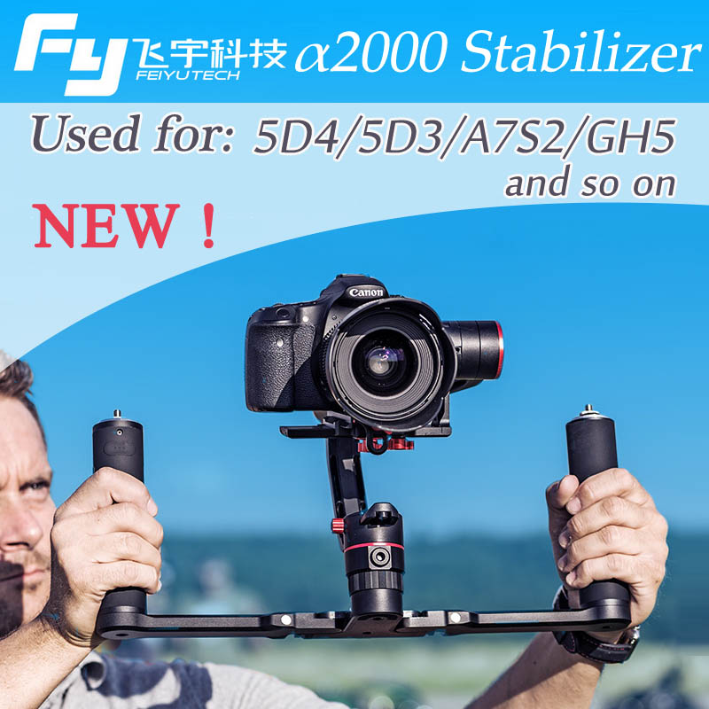 Feiyu a2000 Cameras Stabilizer for Canon 5D DSLR and Sony A7SII GH5 Mirrorless Camera Dual
