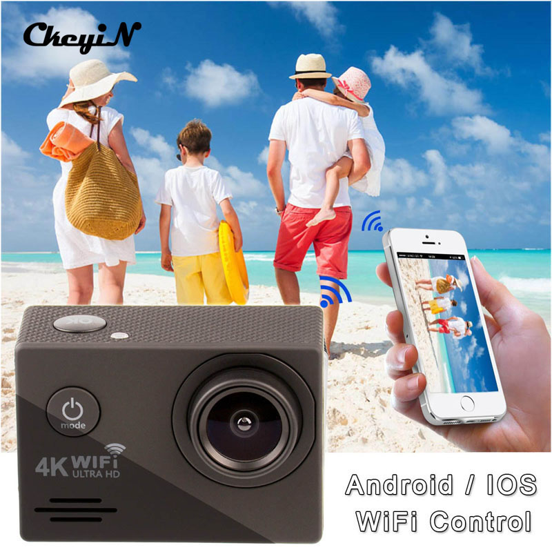 Action Cam 4K Ultra HD WiFi 1080P Sport Camera 2.0 LCD 170D Wide-Angle Lens 30m Underwater Go Pro Camera High Quality DVR85-2930