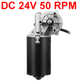 Uxcell New Arrival 1PCS GW70105 12x8mm 2-flat Shaft DC 24V 50 RPM Carbon Brushes Gear Motor Reversible Electric Right Angle high torque 8n m 24v dc reversible electric gear motor 50 rpm double flat shaft left phase motor