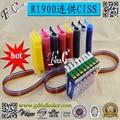 Sistema de tinta a granel para epson r1900 t0870 ciss con la viruta del reajuste + 500 ml de tinta eco solvente/color