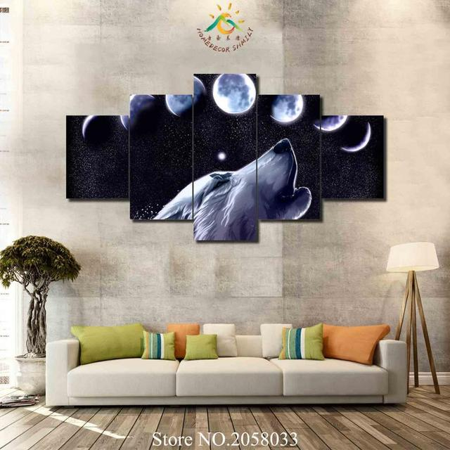 Aliexpress.com : Buy 3 4 5 Pieces Wolf Under Moon Eclipse Singing ...