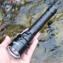 YUPARD XM-L2 LED T6 3*L2  Flashlight Torch Waterproof underwater diver diving Lamp white yellow light 4000 lumens 18650 battery  50w 5 xm l2 led scuba diving flashlight underwater 80 m flash light torch diver portable lantern 18650 26650 battery charger
