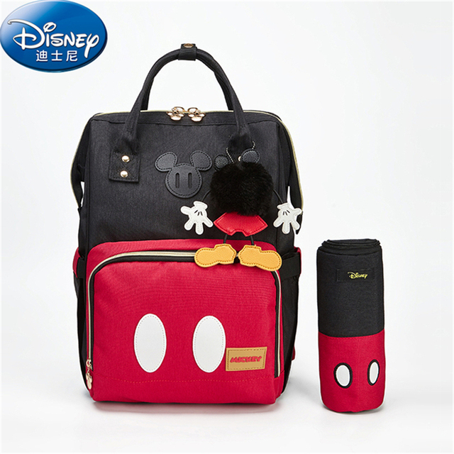 d2c77736342 Disney Bottle Insulation Bag Large Capacity Baby Supplies Bag Cartoon Mickey  Mouse Backpack Bottle Storage Oxford Cloth Bag