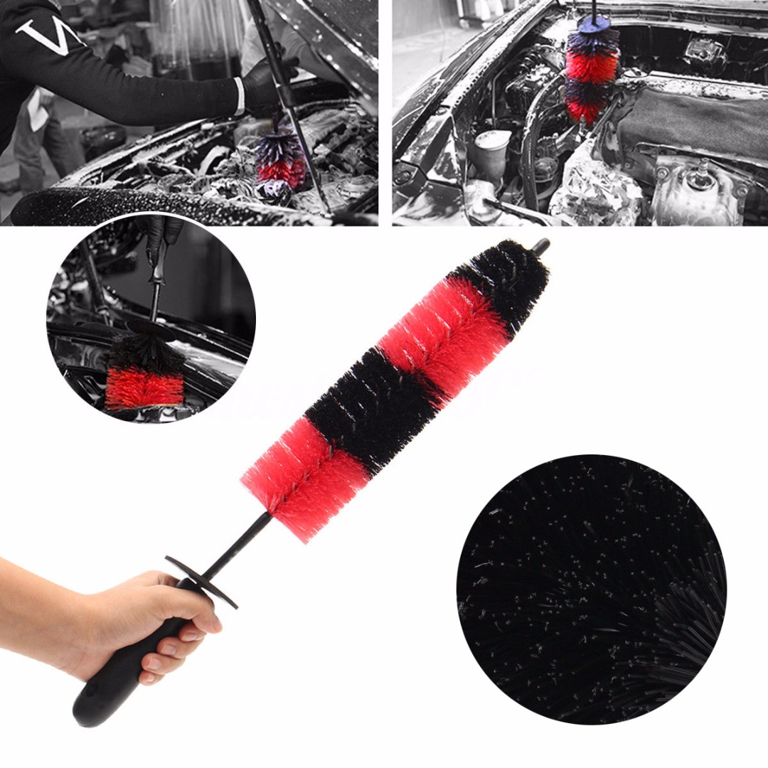 """17"""" Car Truck Motor Engine Grille Wheel Wash Brush Tire Rim Cleaning Tool Car Wash Accessories"""