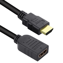 лучшая цена HDMI Extension Cable 1M/2M/3M/5M male to female HDMI 4K 3D 1.4v HDMI Extended Cable for HD TV LCD Laptop PS3 Projector