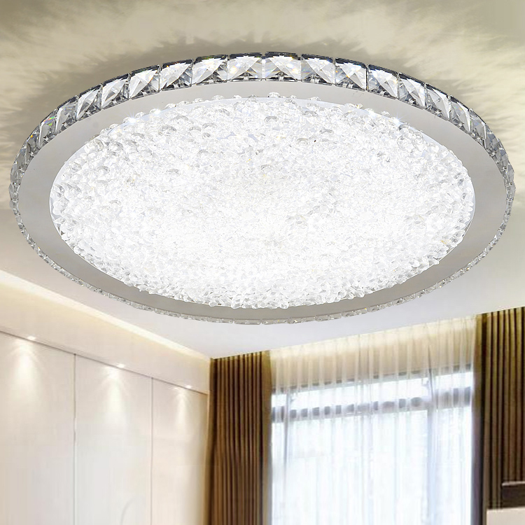 Modern ceiling LED ceiling lamp bedroom crystal lamp room crystal light noosion modern led ceiling lamp for bedroom room black and white color with crystal plafon techo iluminacion lustre de plafond