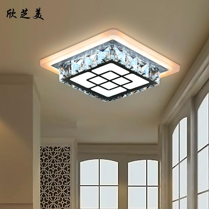 LED creative ceiling lamps square hall aisle lights balcony crystal lamp entrance SJ4272 - 4