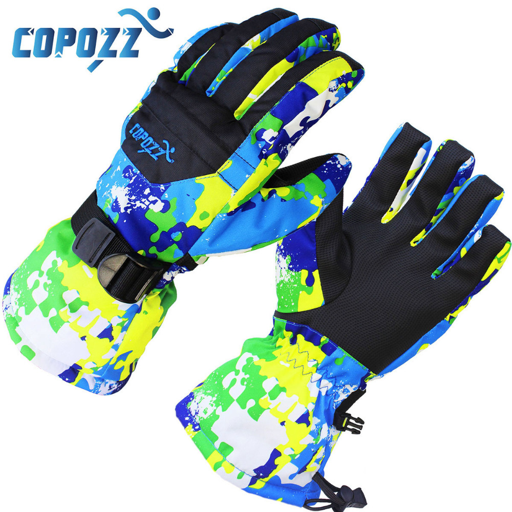 COPOZZ Men Women Boy Girl Chidren Kids Ski Gloves Snowboard Gloves Motorcycle Winter Skiing Climbing Waterproof Snow Gloves