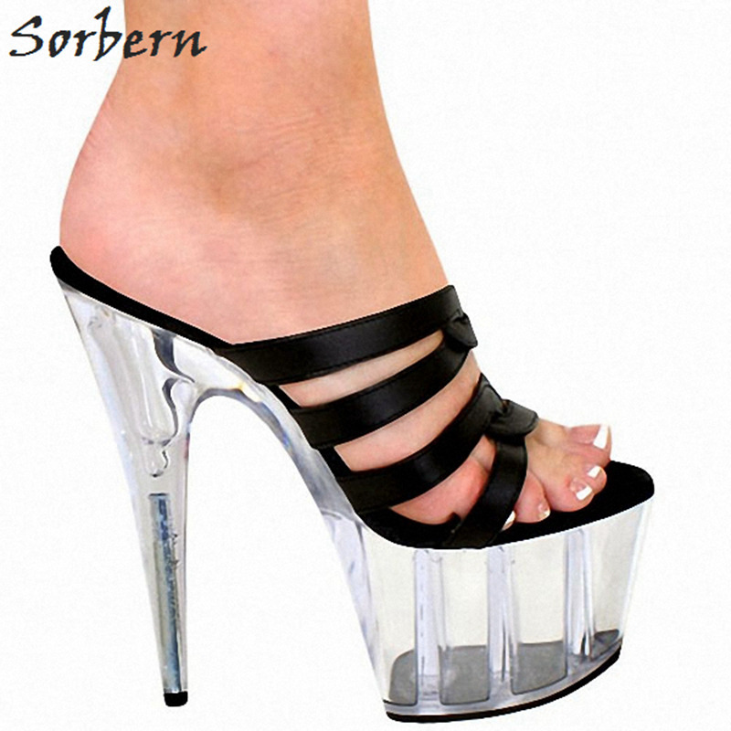Sorbern 2018 New Home Slippers Open Toe Colorful Strap Ladies Shoes Outdoor Women Summer Slippers Extreme High Heels Open ToeSorbern 2018 New Home Slippers Open Toe Colorful Strap Ladies Shoes Outdoor Women Summer Slippers Extreme High Heels Open Toe