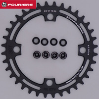 FOURIERS CR E1 104S Single Narrow Wide 1x9/10/11 Speed MTB Bike Chainring BCD 104mm(4 Bolt) 36 38 40T