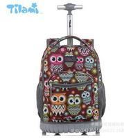 16 18 بوصة بعجلات حقيبة ظهر أطفال حقيبة المدرسة على عجلات عربة حقائب الظهر حقائب للمراهقين الأطفال المدرسة المتداول الظهر