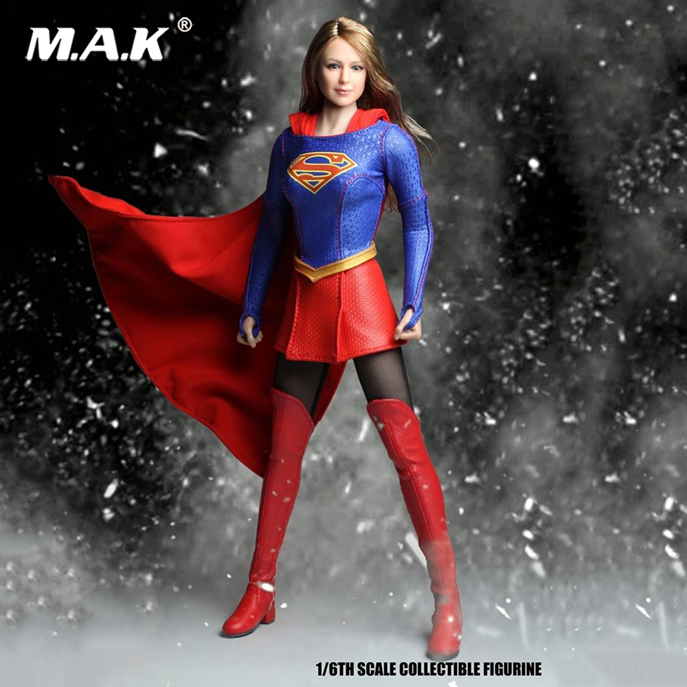 1:6 Scale Supergirl SET013 A Super Heroine Cosplay Props SUPER DUCK Model Toy F 12 Female Figure Toys Accessories
