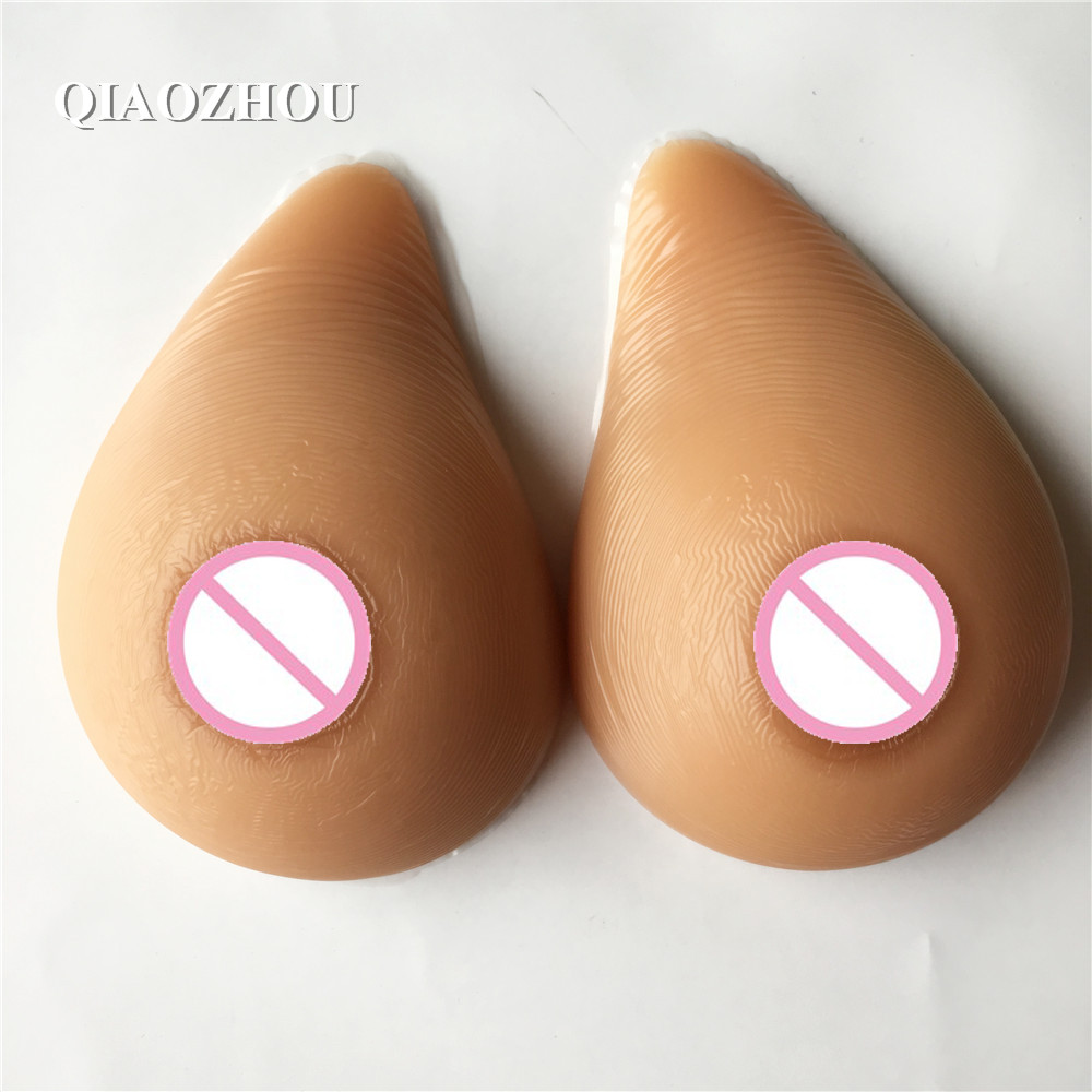 1000g artificial realistic breast forms d cup for transvestite silicone natural boobs tan skin tone цены