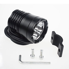 1 PCS Motorcycle Headlights 30W 6000K LED Chip Motorbike Spotlight Black shell Driving Head Light Spot Lamp