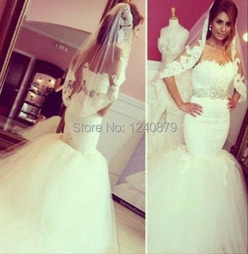 2016 Elegant Off Shoulder Sweetheart Long Tail Puffy Silky Organza Wedding Dress WED 0035 Mermaid