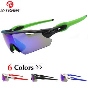 fc1dc2eed6 X-TIGER Polarized Cycling SunGlasses With Myopia Frame Bike Goggles
