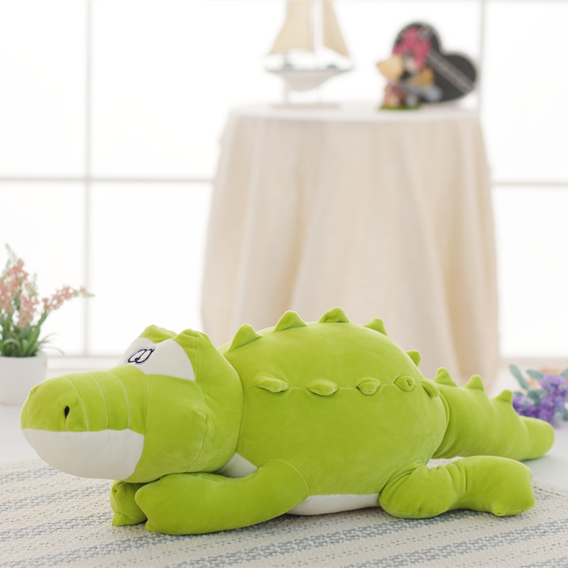 1pc 80cm Lovely Simulation Crocodile Plush Toy Cute Staffed Animal Pillow Cushion Baby Doll Toys Kawaii Gift for Children Baby  high quality crocodile elephant pillow cute animal shape cotton cushion cartoon baby children pillow kids toy free shipping