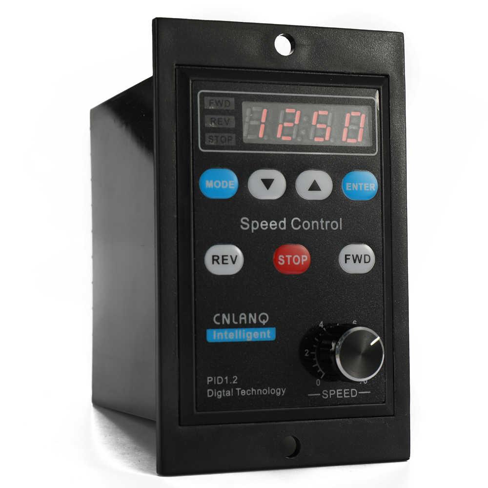 Цифровой контроллер скорости двигателя переменного тока Светодиодный дисплей переменного тока 220 В регулятор скорости двигателя регулятор для 400 Вт микро мотор-редуктор