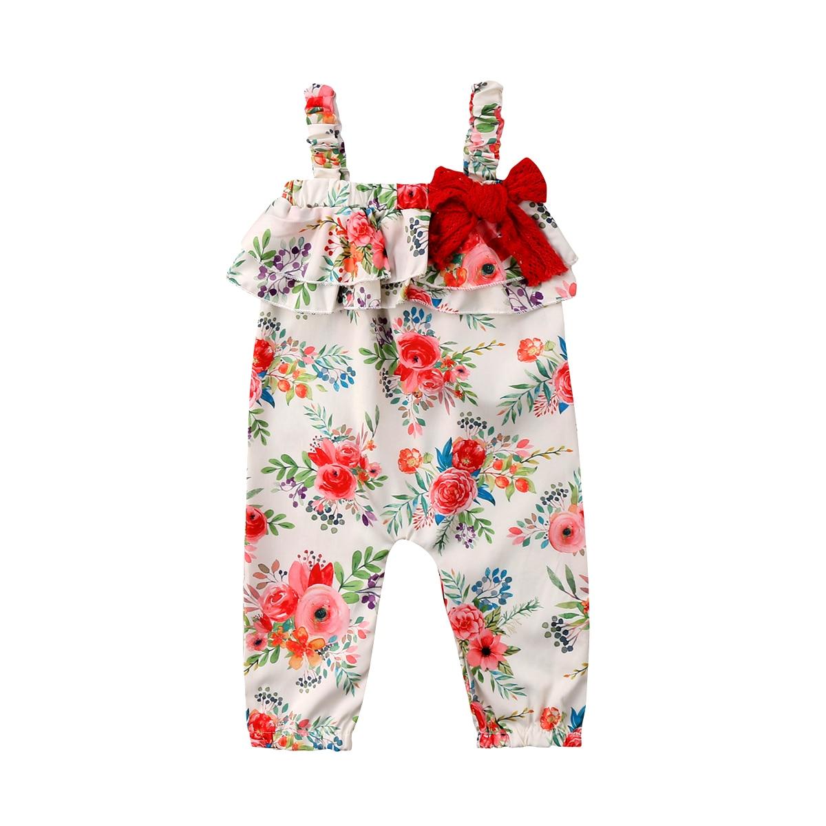 Actief Baby Meisjes Kids Een-stukken Mouwloze Romper Playsuit Jumpsuit Outfit Kleding Maat 1-5 T