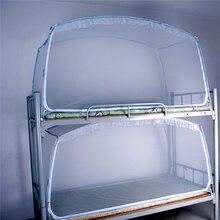 Lo nuevo 90x190x95 cm de Fibra de vidrio de Poliéster Cama Litera Dormitorio Cifrado Mosquitera Estudiante Universitario Carpa Sola Puerta con Marco