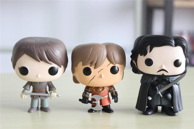 Game of Thrones Jon Snow Daenerys Targaryen Vinyl Movable Head Action Figure Gifts Toys