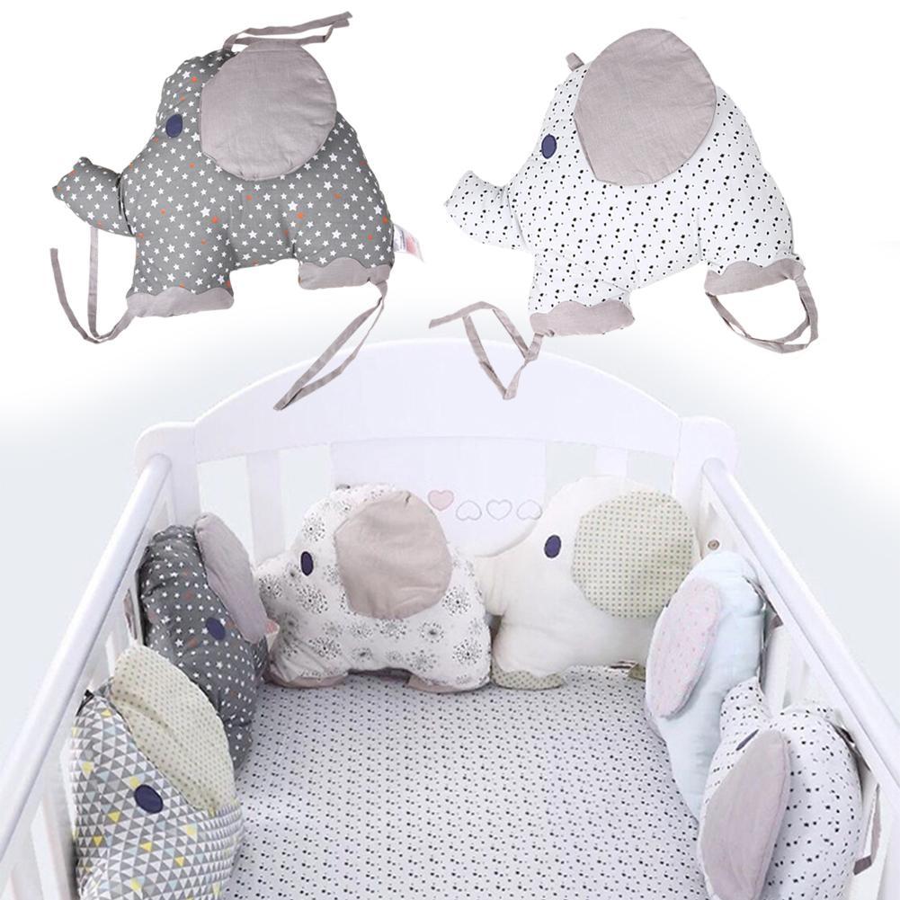 6 Pcs Set Crib Padding Bumper Baby Bedding Creative Pillow Embroidered Printed Cotton Elephant Cushion 6 Pcs Set Crib Padding Bumper Baby Bedding Creative Pillow Embroidered Printed Cotton Elephant Cushion