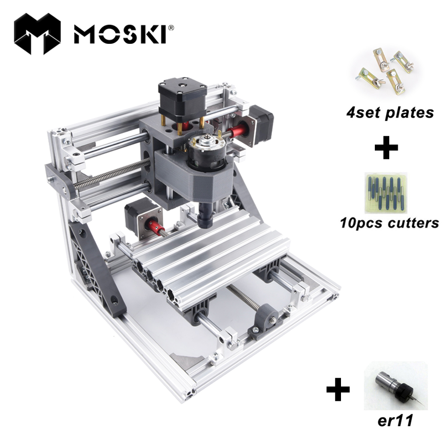 CNC 1610 with ER11,diy cnc engraving machine,mini Pcb Milling Machine,Wood Carving machine,cnc router,cnc1610,GRBL applicatori di etichette manuali