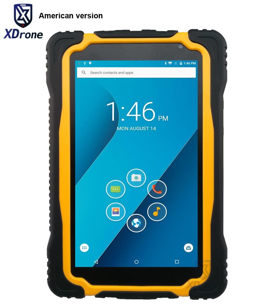 Version américaine T70V2 industrielle robuste Android étanche tablette PC Durable militaire 7 pouces 1280x720 3 GB RAM NFC Gps 4G LTE