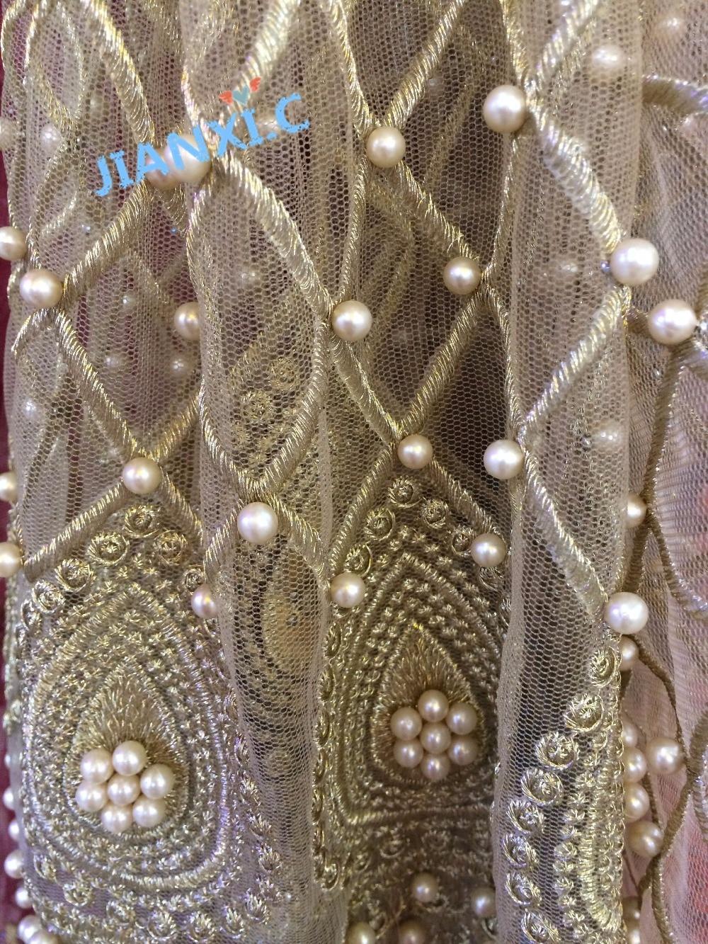 Nuovo disegno del ricamo di pizzo maglia JIANXI.C 112903 tessuto netto africano per il vestito da sera/party dress-in Pizzo da Casa e giardino su  Gruppo 3