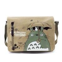 Una pieza Totoro bolso del mensajero Bolsas lona historieta encantadora anime vecino crossbody escuela carta