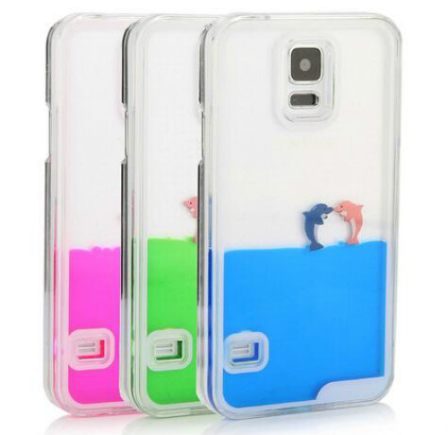 samsung galaxy s5 3d cases. for samsung galaxy s5 case 3d flowing liquid swimming dolphin clear cover 3d cases o