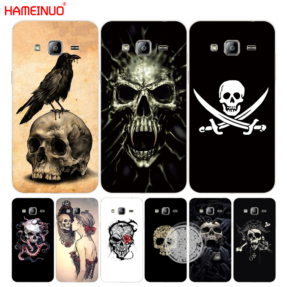 HAMEINUO skull flower pirate love cover phone case for Samsung Galaxy J1 J2 J3 J5 J7 MINI ACE 2016 2015