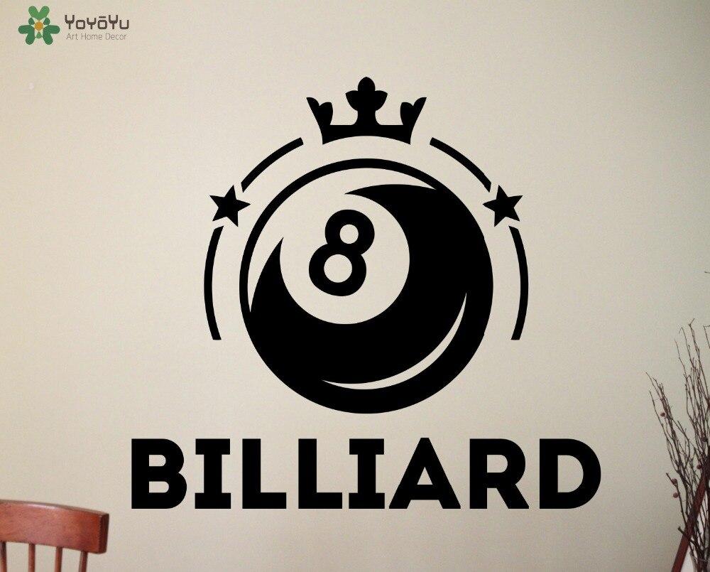 Permainan billiard dinding decal vinyl seni mural dinding stiker ruang bermain desain tahan air dingin diy dekorasi rumah aksesoris signsy457 di wall