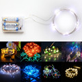 Origlam Waterproof 3M / 9.9ft 30 LEDs Flexible Copper Wire LED 3 Modes Starry String Lights Powered by AA Battery for Party