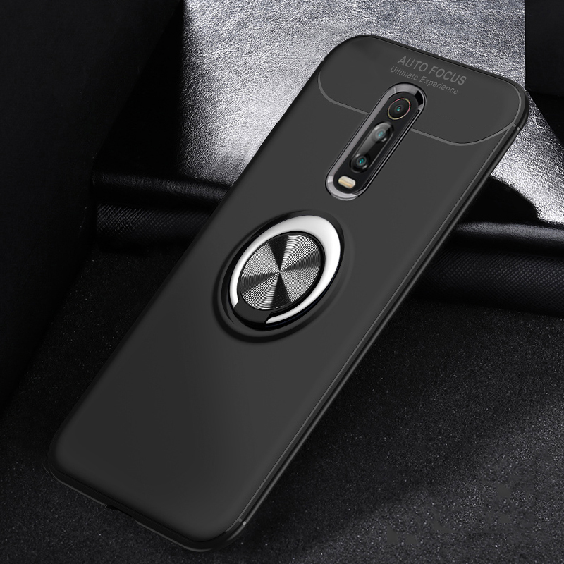 For Xiaomi Redmi K20 pro For Redmi 7A Redmi Y3 Case Metal Finger Ring Holder Soft Silicone TPU Back Cover Phone Cases in Fitted Cases from Cellphones Telecommunications