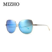MIZHO High Quality Anti-Reflective REVO HD Original Sunglasses Women Polarized Polaroid Metal Oversized Butterfly Glasses Mirror