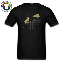 SHARES Bull and Bear Index Stock Pattern T Shirts Premium O Neck Summer Fall Customized Tops Shirts 100 Cotton Tops Tees Men #8217 s cheap YOYLAP Short O-Neck Normal JERSEY Hip Hop striped Eco-friendly Breathable Comfortable Soft Anti-Wrinkle Black White Yellow Blue Green Navy Red Gray Beige Purple