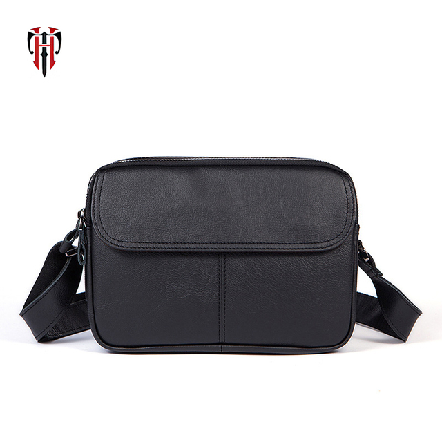 TIANHOO cow leather messenger bag men bags