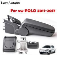 For VW POLO armrest box central Store content box cup holder 2011 2012 2013 2014 2016 2017 Automotive retrofit accessories