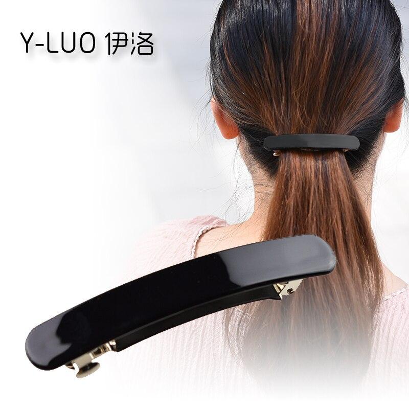 Women headwear 2017 simple korean hair clips office hair barrette ponytail holder cute h ...