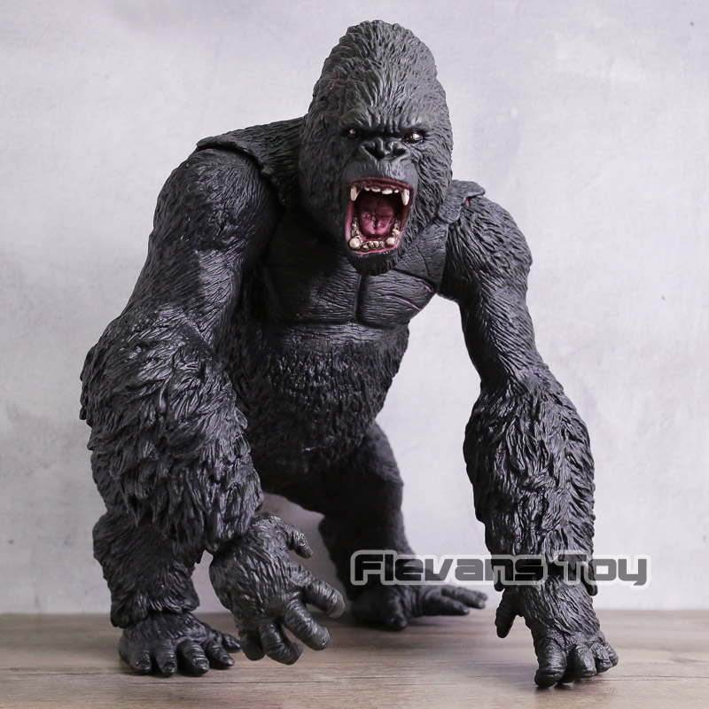 Movie King Kong Skull Island Chimpanzee Model Action Figure Wild Animals Super Big Monster KING KONG Silverback Gorilla Figurine black orangutan 75x85cm chimpanzee plush toy black king kong doll gift w4663