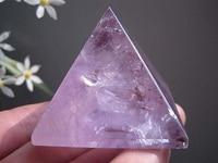 114g Natural Amethyst Quartz Crystal Statue Pyramid Carving