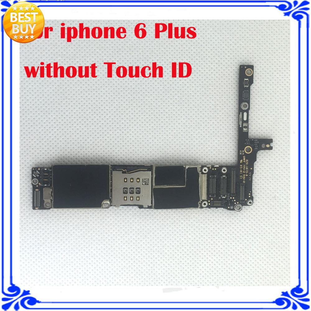 imágenes para Para el iphone 6 Plus de 5.5 pulgadas original placa base sin fingprint 16 GB placa base sin Touch ID 100% probado placa lógica