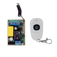 Mini Size 220V 1CH 1CH 10A Wireless Remote Control Switch Relay Receiver Waterproof Transmitter 315 433