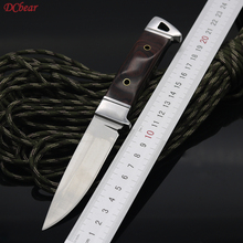 Dcbear Hunting Fixed Knife 3CR13 Blade Tactical Combat Survival Knives Wood Handle Utility Camping Outdoor Pocket Rescue Tools