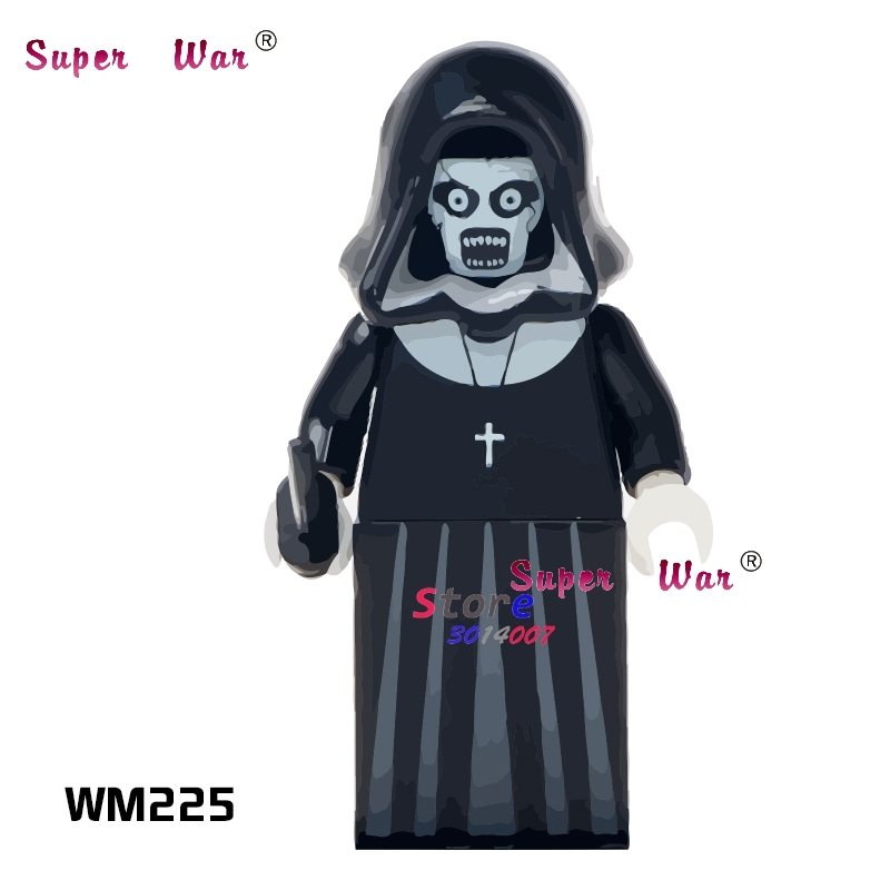 1PCS Model Building Blocks Action   Superheroes The Horror Theme Movie Nun Sinter Doll Diy Toys For Children Gift