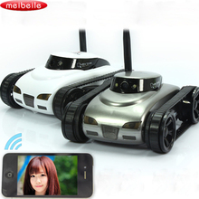 Mini RC Tank APP Controlled Wireless Spy Tank I-SPY Remote Control Robot with Camera Wifi Controlled Monitoring Vehicle iOS Gift