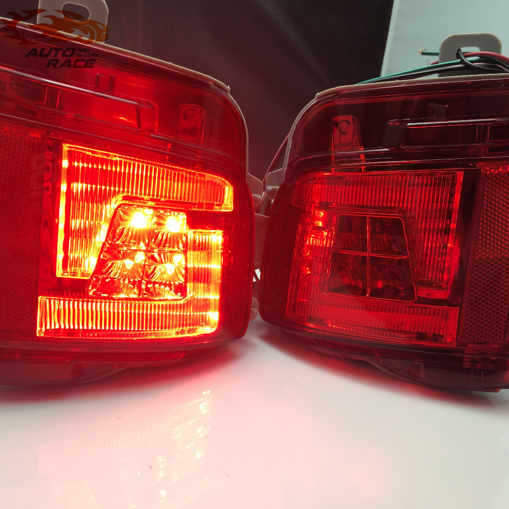 Car styling 2pcs Accessories LED Rear Tail Fog Lamp Fog Light Upgrade Kit For Toyota LAND CRUISER J200 LC200 2016 2017 Facelift car styling tail lights for toyota highlander 2015 led tail lamp rear trunk lamp cover drl signal brake reverse