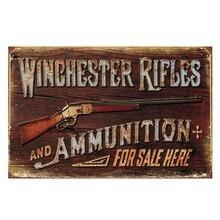 ZJY decoración Vintage para el hogar Rifles Winchester carteles de hojalata Vintage taberna casa Shabby Chic tienda Retro arte Placa de póster Decoración