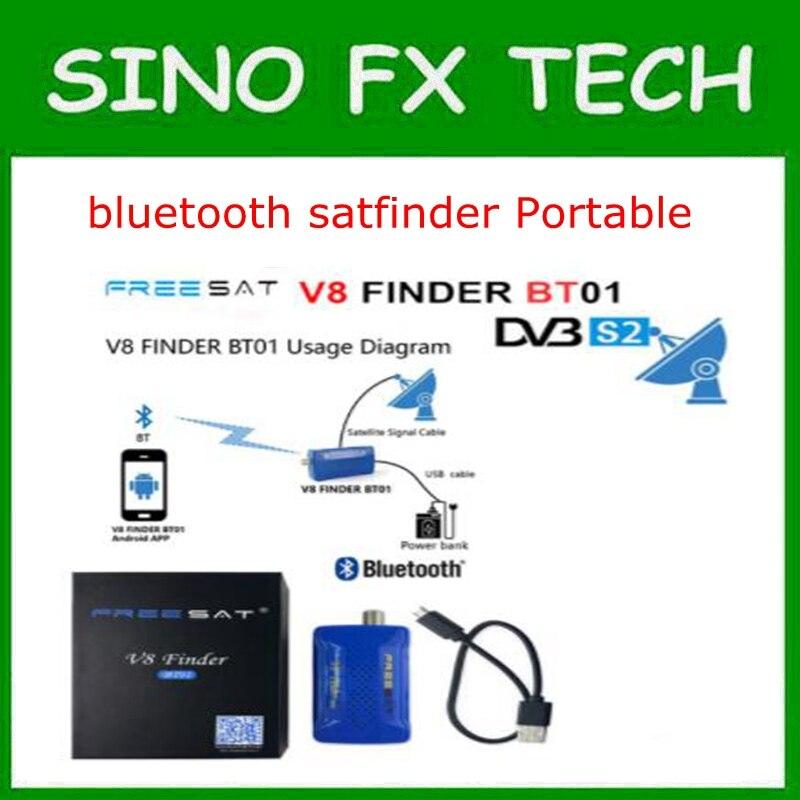Freesat V8 Finder BT01 Mini <font><b>Bluetooth</b></font> DVB <font><b>S2</b></font> Portabl спутниковый Finder метр след от мобильного телефона Android Системы App